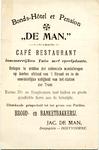 OV_MAN_001 Oostvoorne, De Man - Bonds-Hotel et Pension De Man , Café restaurant. Lommerrijken tuin met speelplaats ...