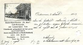OV_MAN_002 Oostvoorne, De Man - Bonds-Hotel-Pension De Man . Café-Restaurant met lommerrijken tuin. Uitstekende ...