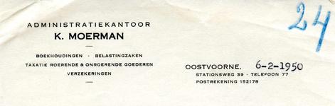 OV_MOERMAN_008 Oostvoorne, Moerman - K. Moerman, Administratiekantoor. Boekhoudingen, belastingzaken, taxatie roerende ...