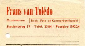 OV_TOLEDO_010 Oostvoorne, Van Toledo - Frans van Toledo, Boek-, Foto-, en Kantoorboekhandel, (1967)