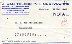 OV_TOLEDO_011 Oostvoorne, Van Toledo - J. van Toledo Pl.z., Granen - Peulvruchten. Pluimvee-veevoederartikelen, ...