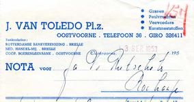 OV_TOLEDO_012 Oostvoorne, Van Toledo - J. van Toledo Pl.z., Granen, Peulvruchten, Veevoeders, Kunstmeststoffen, (1953)
