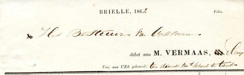OV_VERMAAS_001 Oostvoorne, Vermaas - M. Vermaas en Comp. kolenhandel, (1862)