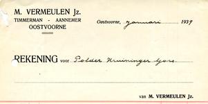 OV_VERMEULEN_003 Oostvoorne, Vermeulen - M. Vermeulen Jz., Timmerman - Aannemer, (1939)