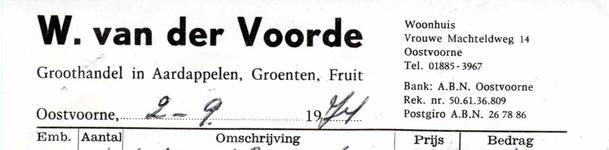 OV_VOORDE_005 Oostvoorne, Van der Voorde - W. van der Voorde, groothandel in aardappelen, groenten en fruit, (1974)