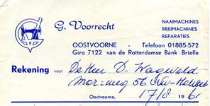OV_VOORRECHT_001 Oostvoorne, Voorrecht - G. Voorrecht, naaimachines, breimachines, reparaties. Verkoop van ...