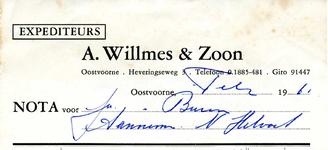 OV_WILLMES_001 Oostvoorne, Willmes - A. Willmes en Zoon, Expediteurs, (1961)