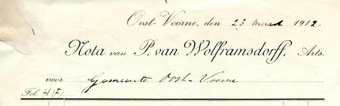 OV_WOLFRAMSDORFF_001 Oostvoorne, Van Wolframsdorff - P. van Wolframsdorff, Arts, (1912)