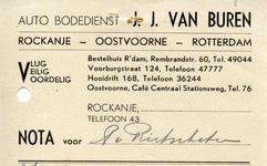 RO_BUREN_003 Rockanje, Van Buren - Auto Bodedienst, J.J. van Buren, Vlug, Veilig, Voordelig.
