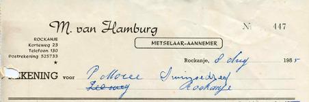 RO_HAMBURG_001 Rockanje, Van Hamburg - M. van Hamburg, Metselaar - Aannemer, (1955)