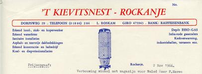 RO_KIEVITSNEST_001 Rockanje, 't Kievitsnest - 't Kievitsnest, L. Roskam, Erkend lood- zink- en koperwerker. Erkend ...