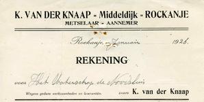 RO_KNAAP_002 Rockanje, Van der Knaap - K. van der Knaap, Metselaar - Aannemer, (1926)