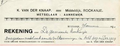 RO_KNAAP_003 Rockanje, Van der Knaap - K. van der Knaap, Metselaar - Aannemer, (1930)