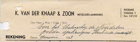 RO_KNAAP_007 Rockanje, Van der Knaap - K. van der Knaap & Zoon, Metselaars - Aannemers, (1948)