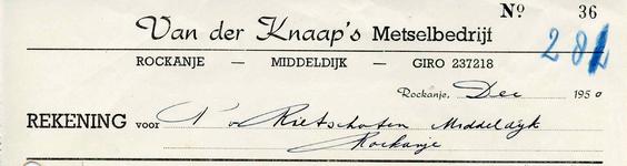 RO_KNAAP_008 Rockanje, Van der Knaap - Van der Knaap's Metselbedrijf, (1950)