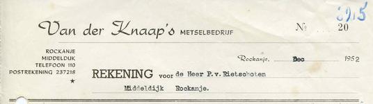 RO_KNAAP_009 Rockanje, Van der Knaap - Van der Knaap's Metselbedrijf, (1952)