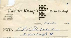 RO_KNAAP_010 Rockanje, Van der Knaap - Van der Knaap's Metselbedrijf, (1954)