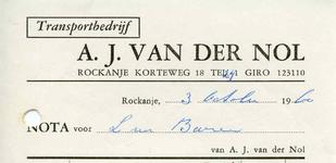 RO_NOL_002 Rockanje, Van der Nol - Transportbedrijf A.J. van der Nol , (1960)