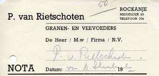 RO_RIETSCHOTEN_001 Rockanje, Van Rietschoten - P. van Rietschoten, Granen- en veevoeders, (1949)