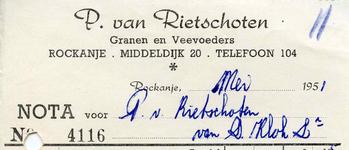 RO_RIETSCHOTEN_002 Rockanje, Van Rietschoten - P. van Rietschoten, Granen en veevoeders, (1951)