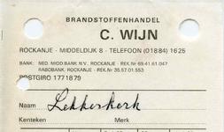RO_WIJN_001 Rockanje, Wijn - C. Wijn, Brandstoffenhandel, (1977)