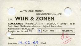 RO_WIJN_005 Rockanje, Wijn - C. v. Wijn & Zonen, Automobielbedrijf, Brandstoffenhandel, (1970)