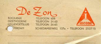 RO_ZON_003 Rockanje, De Zon - De Zon, dames-, heren- en kinderconfectie. Complete woninginrichting