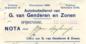 SP_GENDEREN_007 Spijkenisse, Genderen, van - G. van Genderen en zonen. Autobodedienst