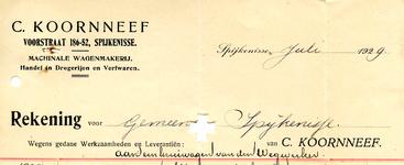 SP_KOORNNEEF_004 Spijkenisse, Koornneef - C. Koornneef, Machinale wagenmakerij. Handel in drogerijen en verfwaren, (1929)
