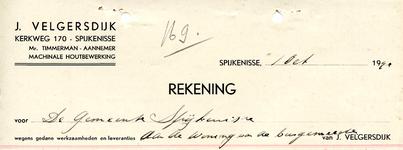SP_VELGERSDIJK_002 Spijkenisse, J. Velgersdijk - Mr. Timmerman, aannemer, machinale houtbewerking, (1941)