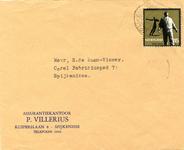 SP_VILLERIUS_002 Spijkenisse, Villerius - P. Villerius, Assurantiekantoor (ENVELOPPE)