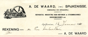 SP_WAARD_007 Spijkenisse, De Waard - A. de Waard, Smederij en draaierij. Reparatie-inrichting voor motoren en ...