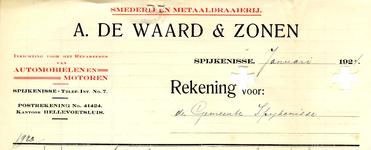 SP_WAARD_011 Spijkenisse, De Waard - Smederij en metaaldraaierij A. de Waard & Zonen. Inrichting voor het repareeren ...
