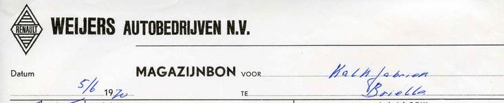 SP_WEIJERS_001 Spijkenisse, Weijers - Weijers autobedrijven n.v., (1970)