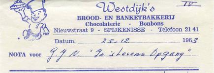 SP_WESTDIJK_001 Spijkenisse, Westdijk - Brood- en banketbakkerij, chocolaterie - bonbons, (1963)
