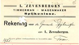 SP_ZEVENBERGEN_007 Spijkenisse, L. Zevenbergen - Timmerman, Wagenmaker