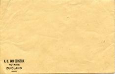 ZL_BERGEIJK_001 Zuidland, Van Bergeijk - A.D. van Bergeijk, Notaris (ENVELOPPE)