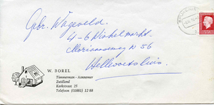 ZL_BOREL_001 Zuidland, Borel - W. Borel, Timmerman - Aannemer (ENVELOPPE), (1978)