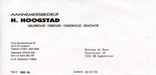 ZL_HOOGSTAD_002 Zuidland, Hoogstad - Aanemersbedrijf H. Hoogstad, Nieuwbouw - verbouw - onderhoud - renovatie, (1996)