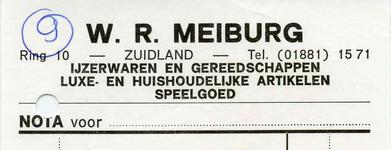 ZL_MEIBURG_003 Zuidland, Meiburg - W.R. Meiburg, IJzerwaren en gereedschappen. Luxe- en huishoudelijke artikelen. ...