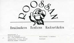 ZL_ROOSSAN_001 Zuidland, Roossan - Roossan, Bruidsuikers, Bonbons, Kadoartikelen, (1998)