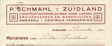 ZL_SCHMAHL_004 Zuidland, Schmahl - P. Schmahl, constructiewerkplaatsen voor ijzeren druivenkassen en warenhuizen. ...