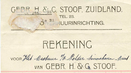 ZL_STOOF_001 Zuidland, Stoof - Gebr. H. & C. Stoof, Auto-verhuurinrichting, (1927)