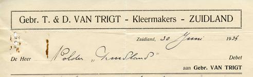 ZL_TRIGT_002 Zuidland, Van Trigt - Gebr. T. & D. van Trigt, Kleermakers, (1934)