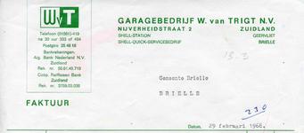 ZL_TRIGT_005 Zuidland, Van Trigt - Garagebedrijf W. van Trigt N.V. Shell-Station, Shell-Quick-Servicebedrijf, (1968)