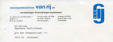 ZL_VAN RIJ_006 Zuidland, Van Rij - Assurantiekantoor Van Rij B.V. Verzekeringen, financieringen hypotheken, (1997)