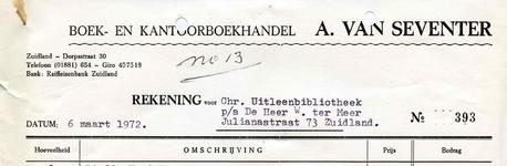 ZL_VAN SEVENTER_002 Zuidland, Van Seventer - Van Seventer's boekhandel, (1999)