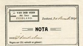 ZL_VEER_001 Zuidland, Van der Veer - L. van der Veer, Mr. Smid, (1919)
