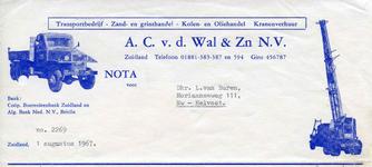 ZL_WAL_006 Zuidland, V.d. Wal - Transportbedrijf, Zand- en grinthandel, Kolen- en Oliehandel, Kranenverhuur A.C. v.d. ...