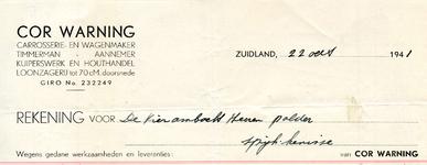 ZL_WARNING_001 Zuidland, Warning - Cor Warning, Carrosserie- en wagenmaker, Timmerman - Aannemer. Kuiperswerk en ...